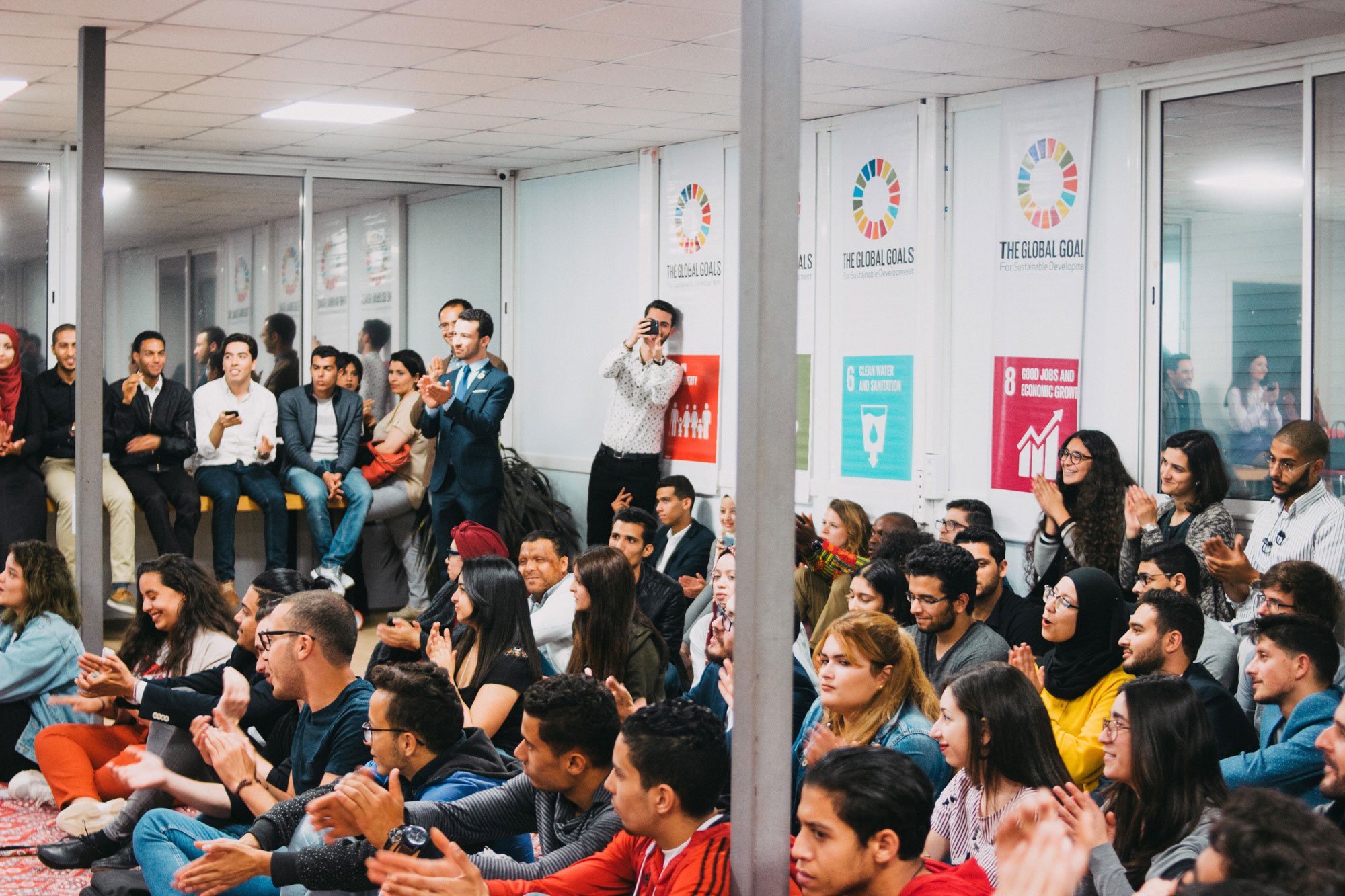 SDG Camps all Tunisia PNUD meetings teens between 14 years and 29 years and mentors